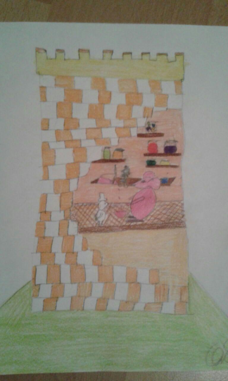 Kinderbuchillustration Klasse 5 - Der kleine Hugo und der Farbendieb